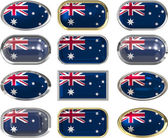 Twelve buttons of the Flag of Australia — Stock Photo