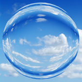 Blue sky orb ball bubble — Stock Photo