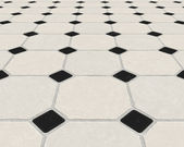 Marble tiled floor — Stock Photo
