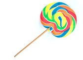 Lollipop on white background — Stock Photo