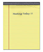 Yellow notepad — Stockfoto