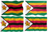Great Image of the Flag of Zimbabwe — Stock Photo