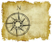 North compass map arrow — Stock Photo