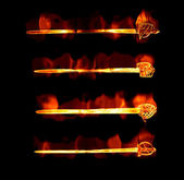 Flaming fiery swords — Stock Photo