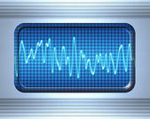 Sound or audio wave — Stock Photo