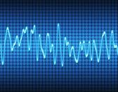 Electronic sine sound wave — Stock Photo