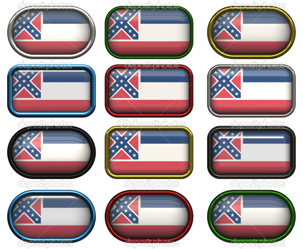 Twelve Great buttons of the Flag of Mississippi — Stock Photo #1197135