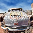Old car in the desert — Stock Photo #1211385