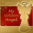 Royalty-Free Stock Photo: Golden angel