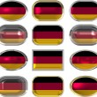 Royalty-Free Stock Photo: Twelve buttons of the Flag of Germany