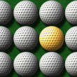 Gold golf ball — Stock Photo