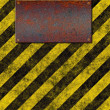 Stock Photo: Warning sign plaque