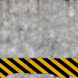Royalty-Free Stock Photo: Old hazard wall