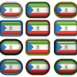 Twelve buttons of the Flag of Equatorial — Stockfoto
