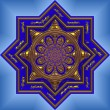 Blue mandala - Stock Photo