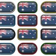Twelve buttons of the Flag of Australia — Stock Photo #1214048