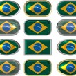 Royalty-Free Stock Photo: Twelve buttons of the Flag of Brazil
