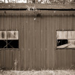 Old rusty tin shed — Stock Photo #1214211