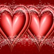 Two bound hearts — Stock Photo #1214237