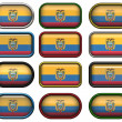 Twelve buttons of the Flag of Ecuador — Stock Photo