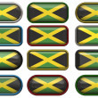 Royalty-Free Stock Photo: Twelve buttons of the Flag of Jamaica