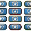 Twelve buttons of Flag of Northern M — Stock Photo #1214476