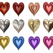 Royalty-Free Stock Photo: Twelve hearts