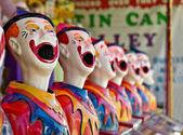 Row of clowns — Stock Photo