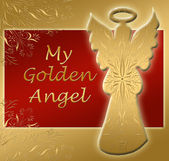 Golden angel — Stock Photo