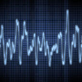 Audio or sound wave — Stock Photo