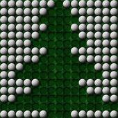 ゴルフのクリスマス ツリー — ストック写真
