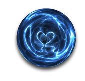 Crystal ball heart — Stock Photo