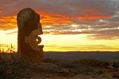 Desert sculptures at broken hill — Stock Photo