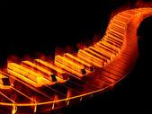 Keyboard on fire — Stock Photo