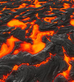 Image of hot cracking lava or magma — Foto de Stock