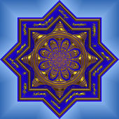 Blue mandala — Stock Photo
