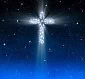 Christian cross in stars — Stock Photo