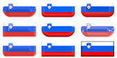 Nine glass buttons of the Flag of Sloven — Stockfoto