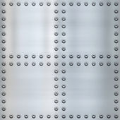 Riveted metal background — Stock Photo