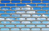 Blue sky through the bars — Stock Photo