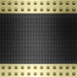 Stock Photo: Carbon fibre and gold background