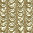 Stock Photo: Gold curtains
