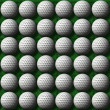Rows of golf balls — Stock Photo