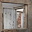 Ruins window — Stock Photo