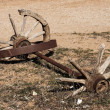 Old broken weels - Stock Photo