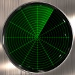 Radar or sonar screen — Stock Photo