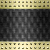 Carbon fibre and gold background — Stock Photo