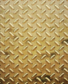 Rough gold diamond plate — Stock Photo