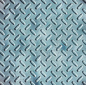 Rough blue steel diamond plate — Stock Photo