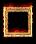 Red hot fire frame — Stock Photo